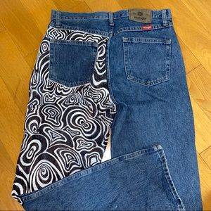 WRANGLER Hand painted vintage jeans